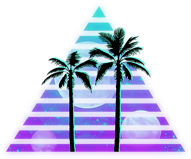 Vaporwave sun clipart clipart black and white library vaporwave tumblr palmtrees - Sticker by ~Sam 7u7r~ clipart black and white library