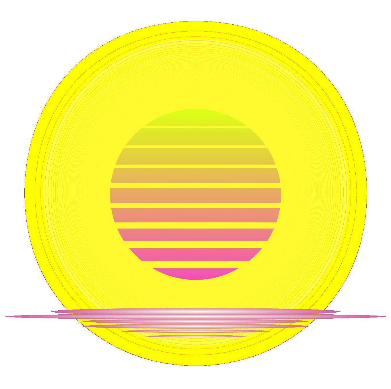 Vaporwave sun clipart clip art transparent Vaporwave album cover builder clip art transparent