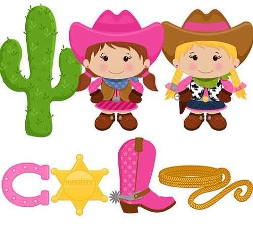 Vaqueritas clipart picture freeuse stock Vaqueritas | fiesta 3 | Fiesta infantil vaquera, Fiesta ... picture freeuse stock