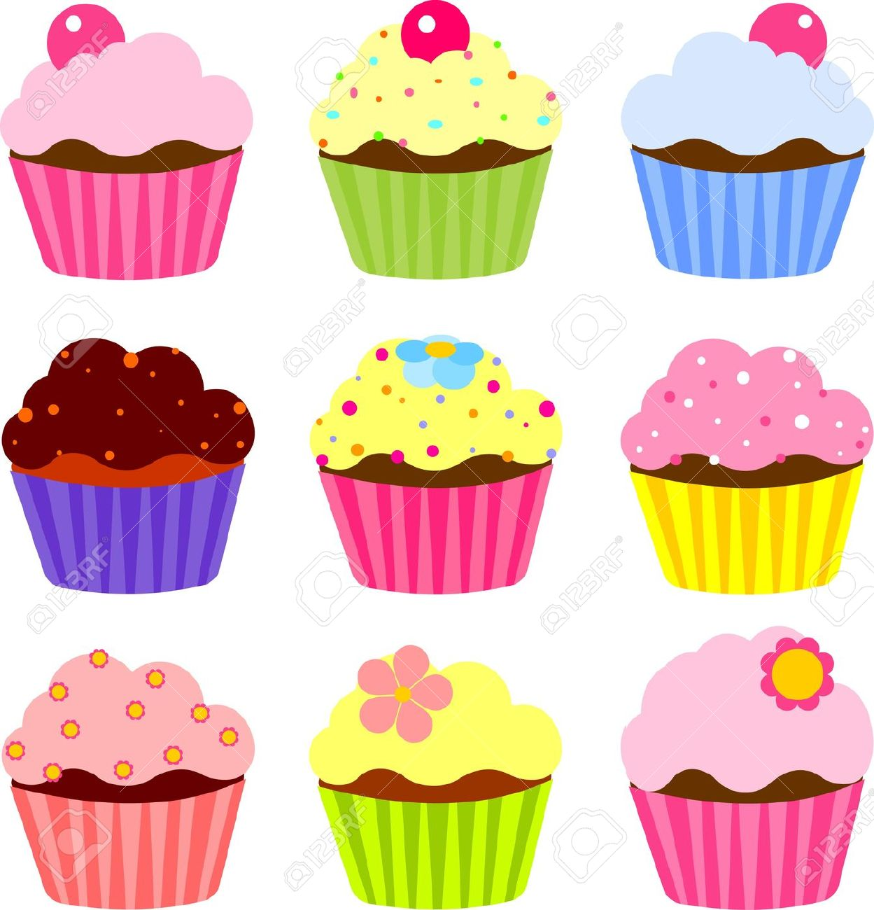 Various cliparts clip free Cupcake Images Clip Art & Cupcake Images Clip Art Clip Art Images ... clip free