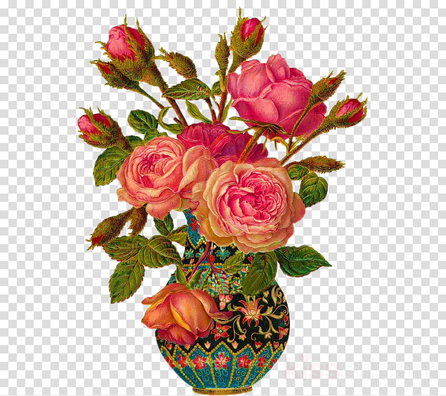 Vase of vintage flowers clipart picture freeuse Floral Flower Background clipart - Flower, Vintage, Rose ... picture freeuse