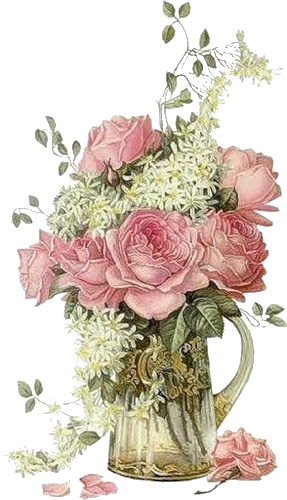 Vase of vintage flowers clipart clip art royalty free download Pin by Diane Starr on VINTAGE CLIP ART | Decoupage ... clip art royalty free download