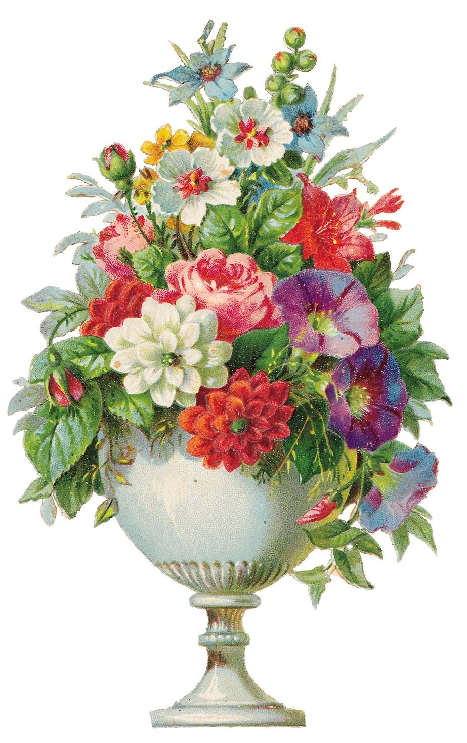 Vase of vintage flowers clipart graphic free Vintage Flowers Clip Art Borders | Vintagefeedsacks Vintage ... graphic free
