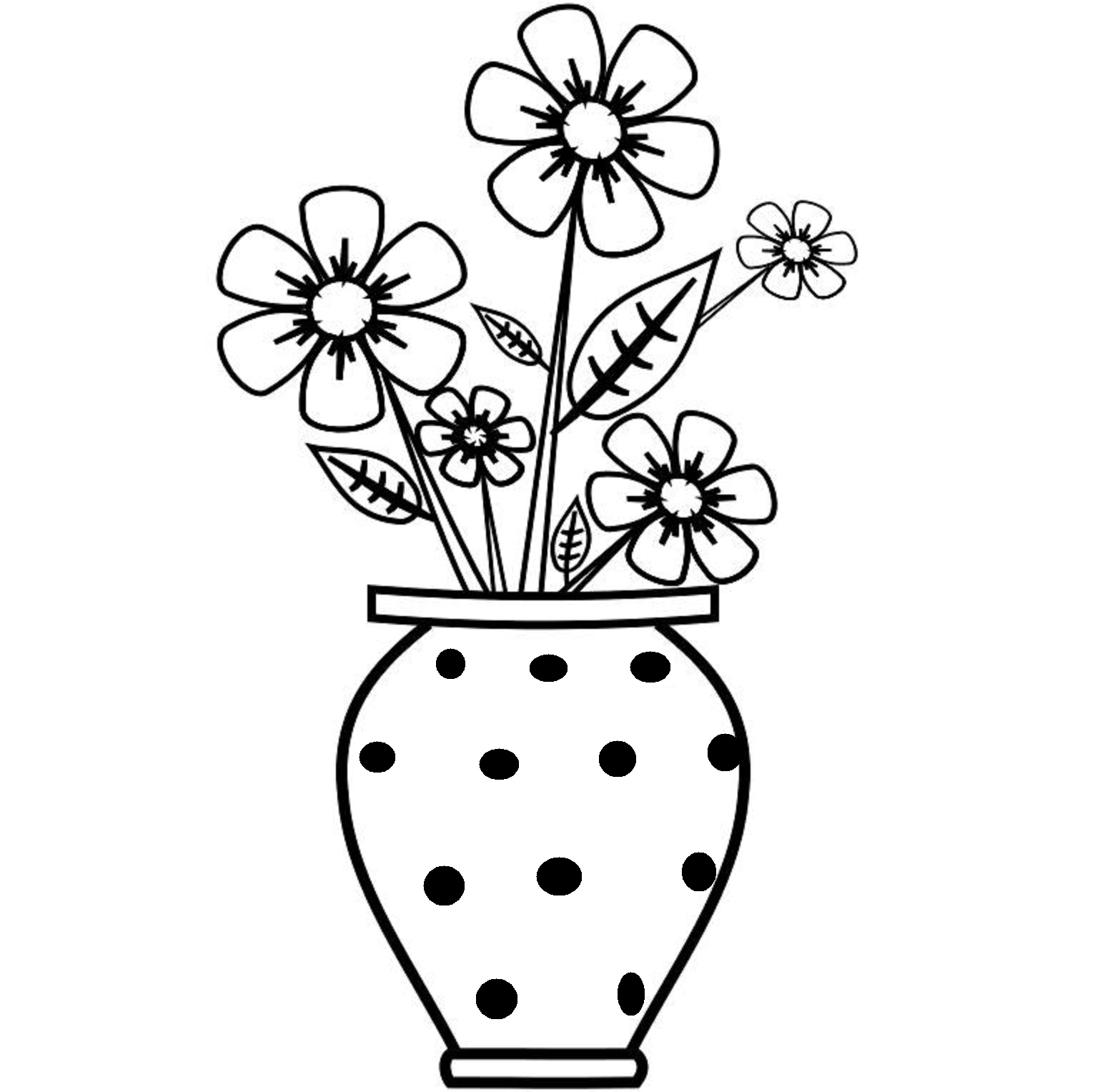 Vases black clipart graphic royalty free download Clipart Black And White Flowers In A Vase - HD Image Flower ... graphic royalty free download