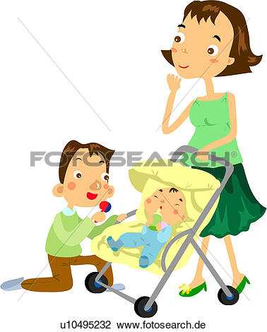 Vater und mutter clipart image black and white download Clipart - kinderwagen, mutter, babysportwagen, saeuglings, baby ... image black and white download
