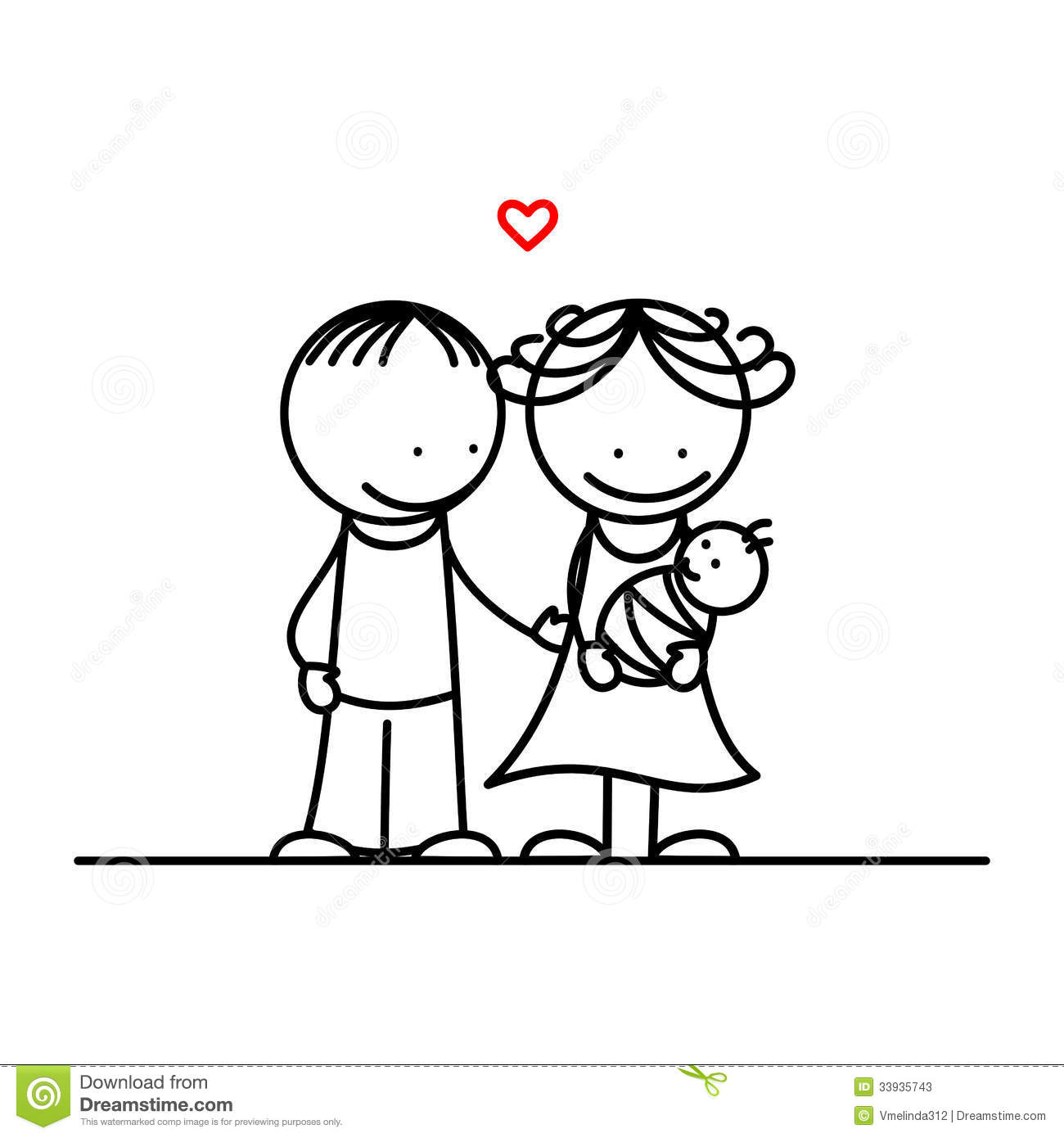 Vater und mutter clipart image black and white stock Vater mutter kind clipart - ClipartFest image black and white stock