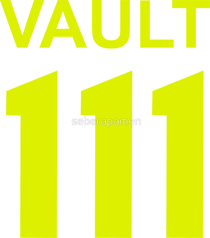 Vault 111 clipart vector black and white stock VAULT 111