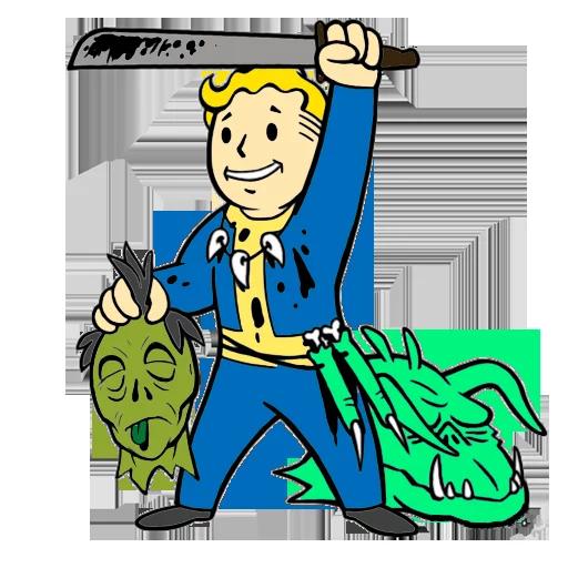 Vault boy clipart clip art stock Fallout - Vault Boy · Telegram Stickers Directory clip art stock