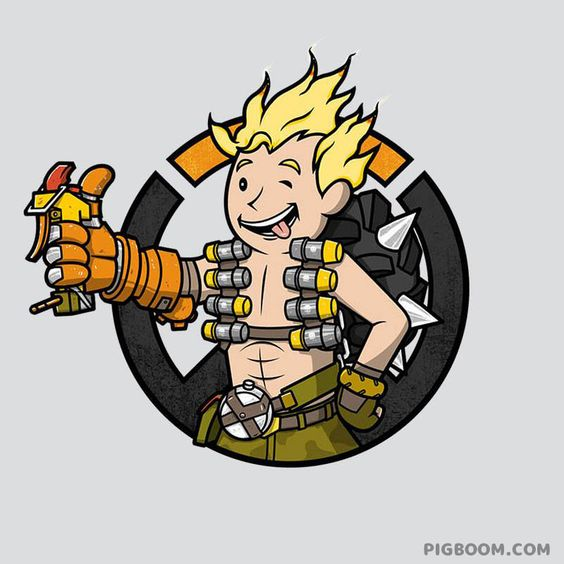 Vault boy clipart health image transparent library Junkrat X Vault Boy | LatestGames | Pinterest | Boys, Dr. oz and ... image transparent library