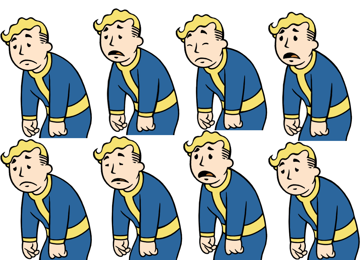Vault boy perks clipart vector transparent stock Image - VaultBoy AnimationsHappynessLow.png | Fallout Wiki ... vector transparent stock