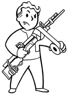 Vault boy perks clipart jpg black and white library Real Fallout Perk Figure - The Vault Boy | Interesting videos ... jpg black and white library