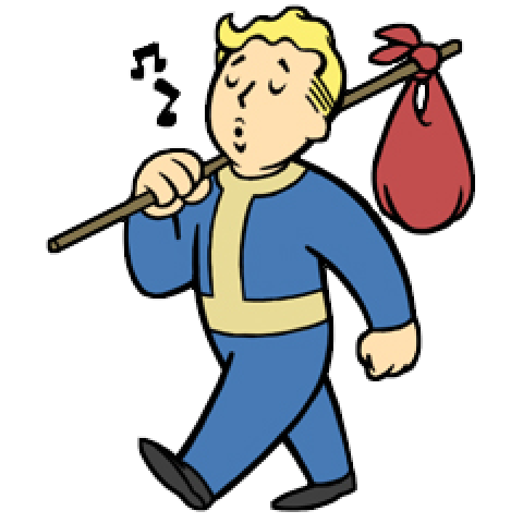 Vault boy perks clipart clipart black and white stock Vault Boy screenshots, images and pictures - Giant Bomb clipart black and white stock