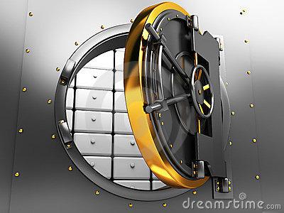 Vault door clipart image black and white stock Illustration Of Bank Vault Door, Front View Stock Photography ... image black and white stock