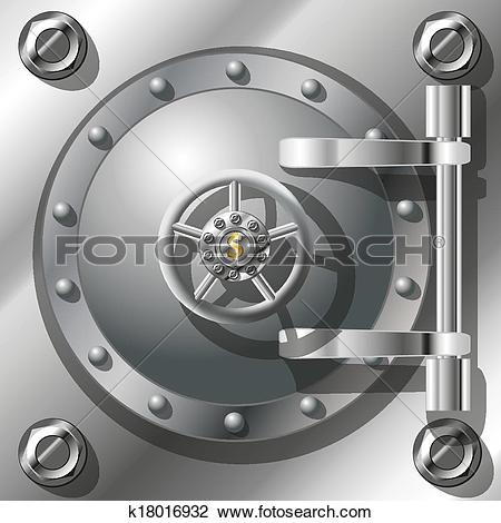 Vault door clipart jpg free library Clipart of Bank Vault Door k18016932 - Search Clip Art ... jpg free library