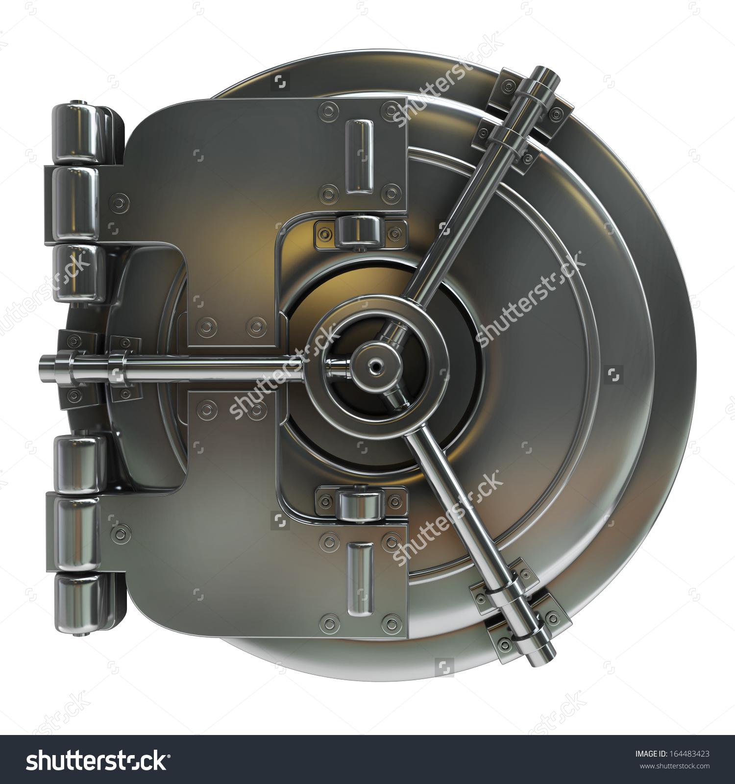 Vault door clipart clip art library download Bank Vault Door Isolated On White Stock Illustration 164483423 ... clip art library download