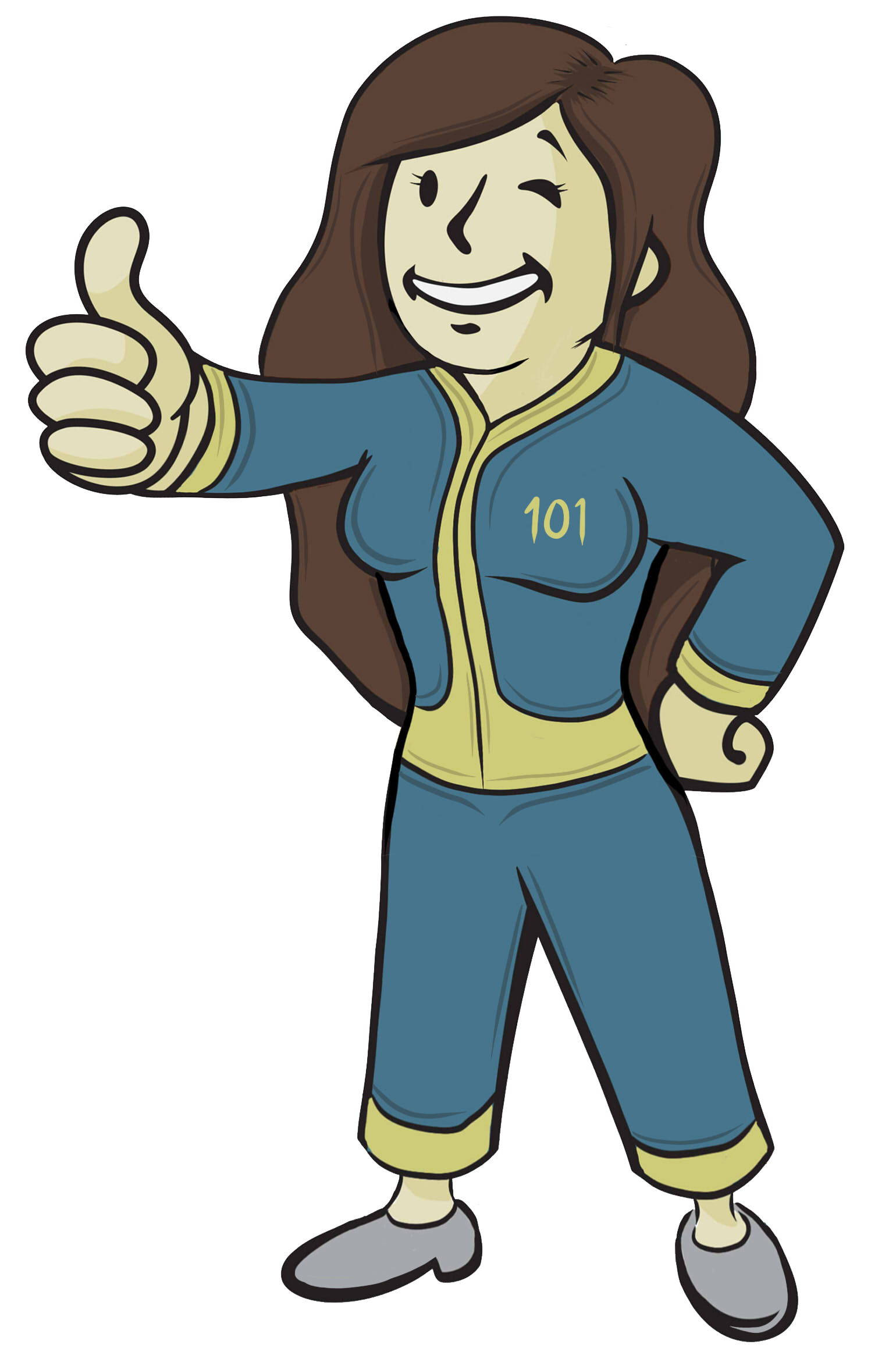 Vault girl clipart png black and white download Vault-girl by YuliaH95 on DeviantArt png black and white download