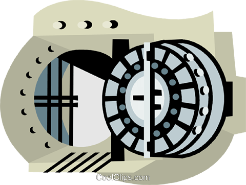 Vault of informtion clipart