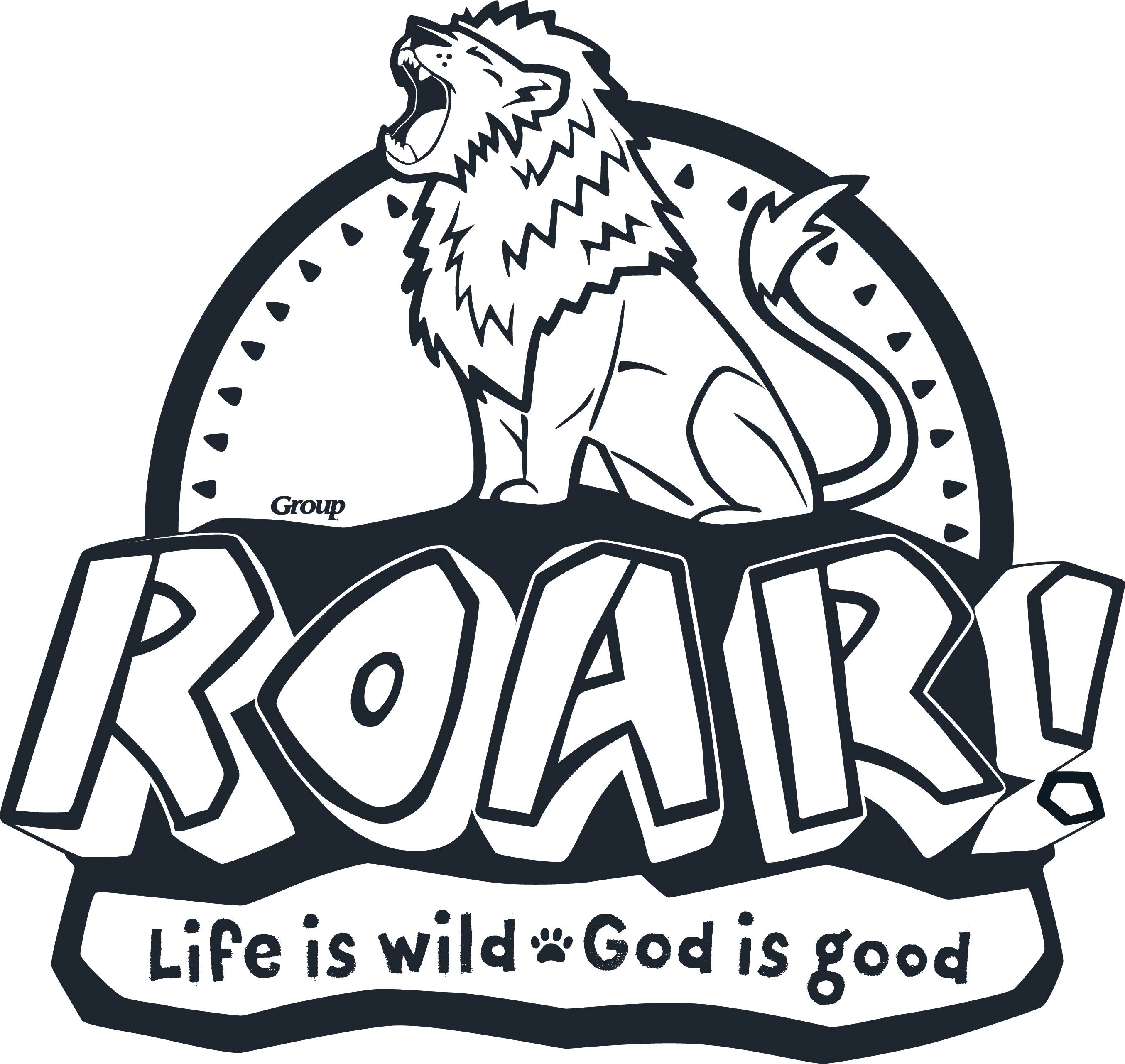 Vbs 2019 roar clipart svg black and white stock VBS-Roar 2019 svg black and white stock