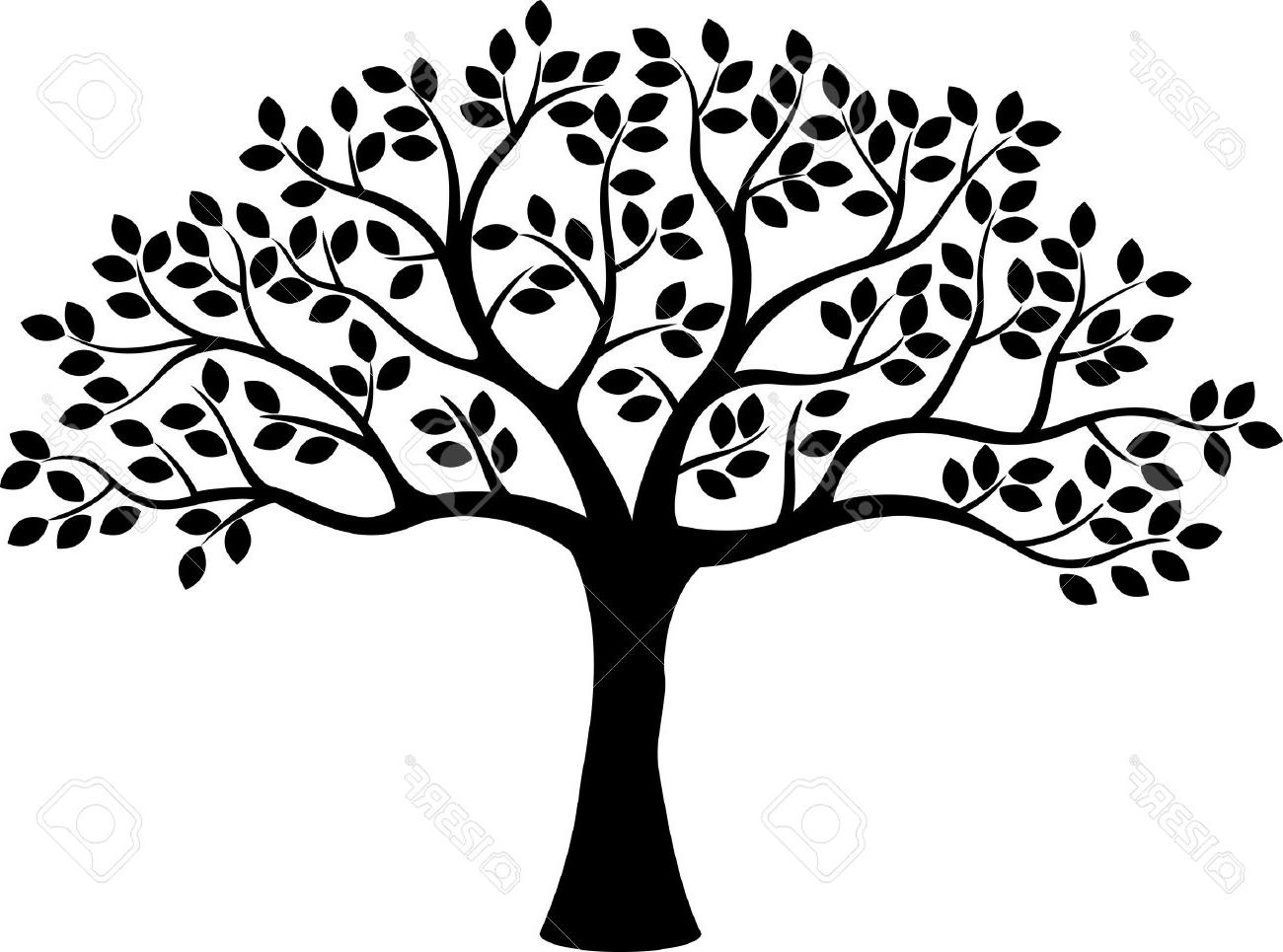 Tree of life silhouette clipart banner Family Tree Clipart Black And White | Free download best ... banner