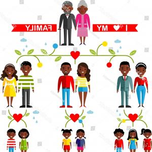 Vector african family tree clipart transparent stock Cute Curly African American Girl Cartoon Vector Character ... transparent stock