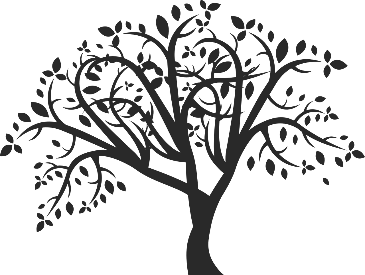 Vector african family tree clipart banner free stock Tree Silhouette Clip art - family tree png download - 1280 ... banner free stock