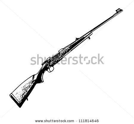 Vector air rifle clipart logo vector library download Hunting Rifle Stock Images, Royalty-Free Images & Vectors ... vector library download