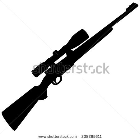 Vector air rifle clipart logo clipart black and white download Hunting Rifle Stock Images, Royalty-Free Images & Vectors ... clipart black and white download