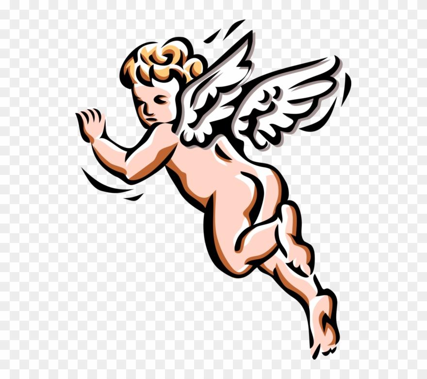 Vector angel clipart svg Vector Illustration Of Angelic Spiritual Cherub Angel ... svg