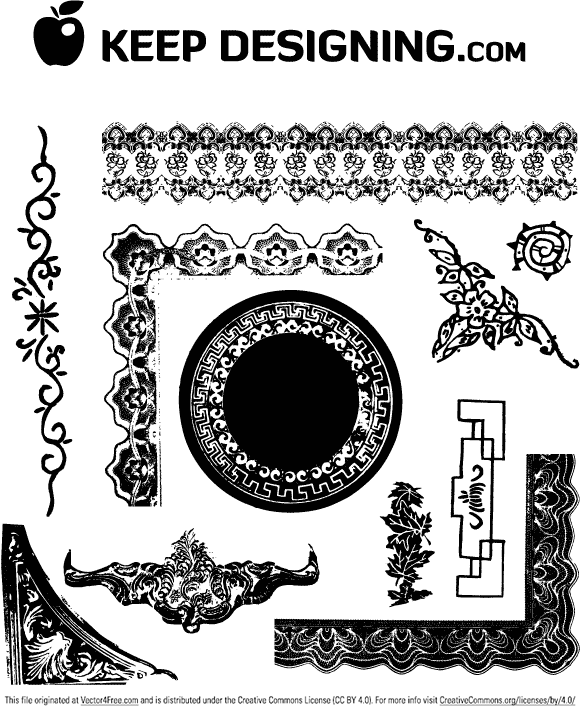 Vector art collection download picture transparent Antique Frames and Ornaments - Free Vector Art picture transparent