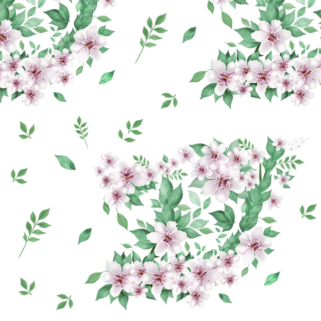 Beautiful floral flowers with. Flower reaching for sun clipart