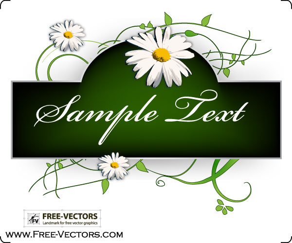 Vector art flowers free download freeuse stock Flowers Banner Vector Graphics | Download Free Vector Art | Free ... freeuse stock