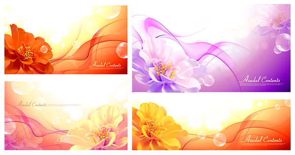 Vector art flowers free download clip art freeuse Flowers and fantasy background vector Graphic - Vector Background ... clip art freeuse