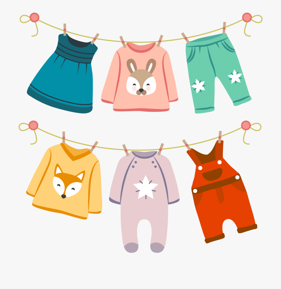 Vector baby clothes clipart svg transparent download Infant Fashion Childrens Vector Baby Clothing Clothes - Kids ... svg transparent download