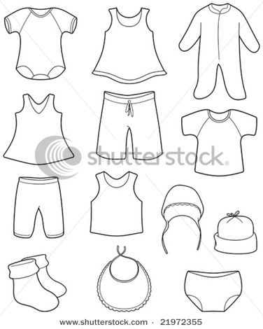 Vector baby clothes clipart vector freeuse download Vector Illustration: Children\'s clothes | My wishlist | Baby ... vector freeuse download