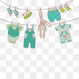 Vector baby clothes clipart graphic stock Vector Hanging Clothes, HD, Vector, Baby #2098 - PNG Images ... graphic stock
