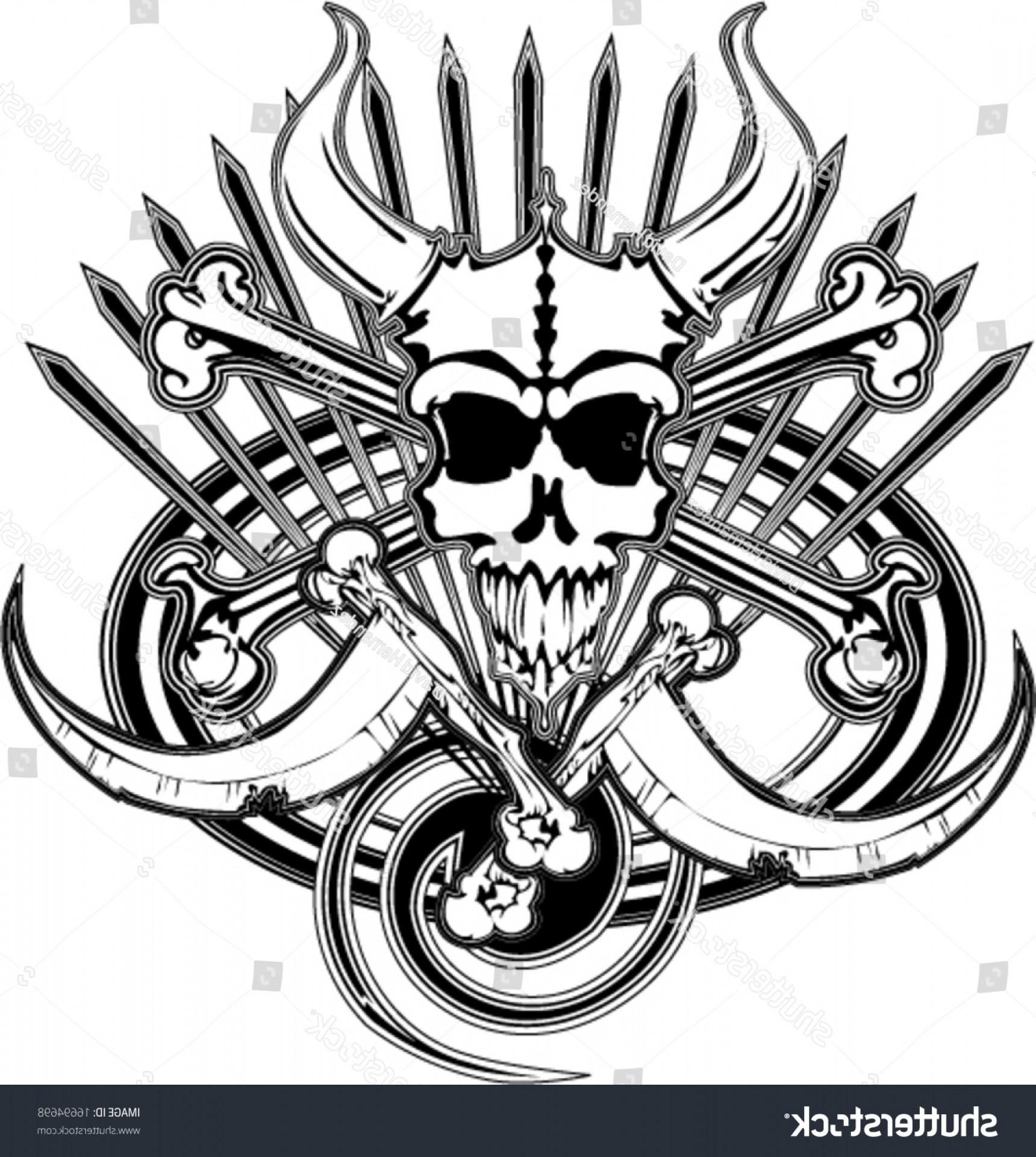 Vector beast skull transparent library Logo Beast Pirate Skull Bones Death | HandandBeak transparent library