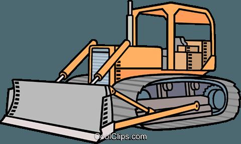Vector bulldozer clipart free clip art library library Bulldozer Royalty Free Vector Clip Art illustration ... clip art library library