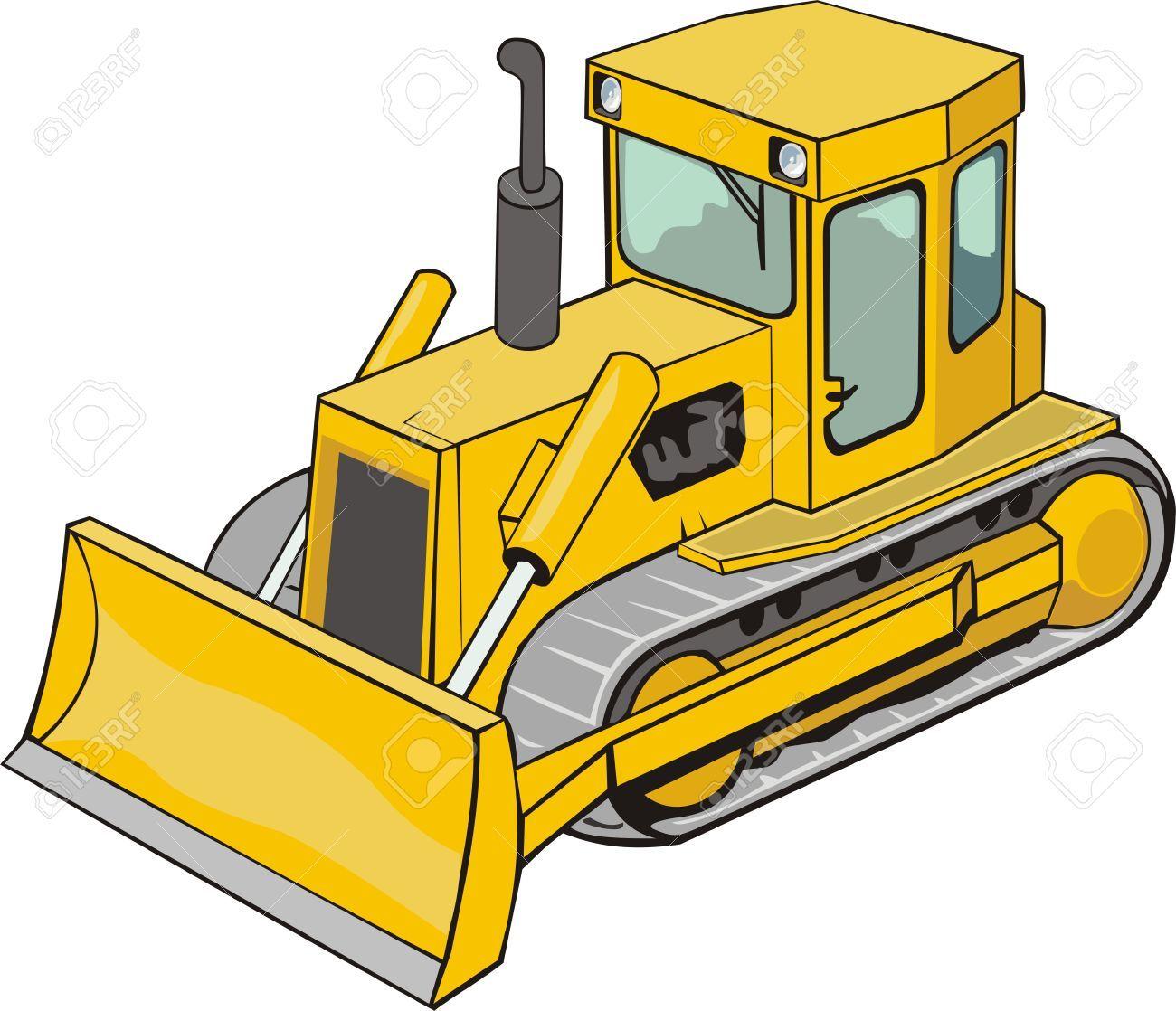 Vector bulldozer clipart free clip freeuse library Stock Vector   Anderson turns 3   Caterpillar bulldozer ... clip freeuse library