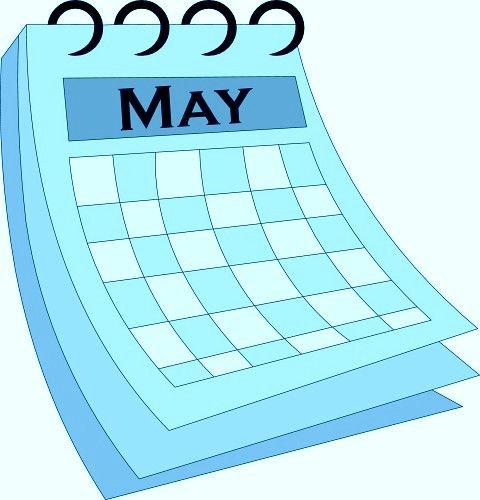 Vector calendar clipart vector free download May 2018 Clipart Calendars, Graphics, Vector Arts | Calendar ... vector free download