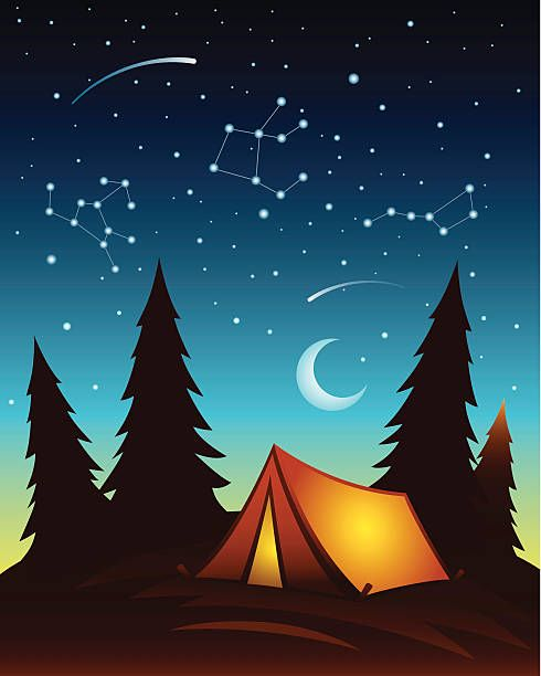Vector canopy clipart free banner free stock Royalty Free Camping Tent Night Clip Art, Vector Images ... banner free stock