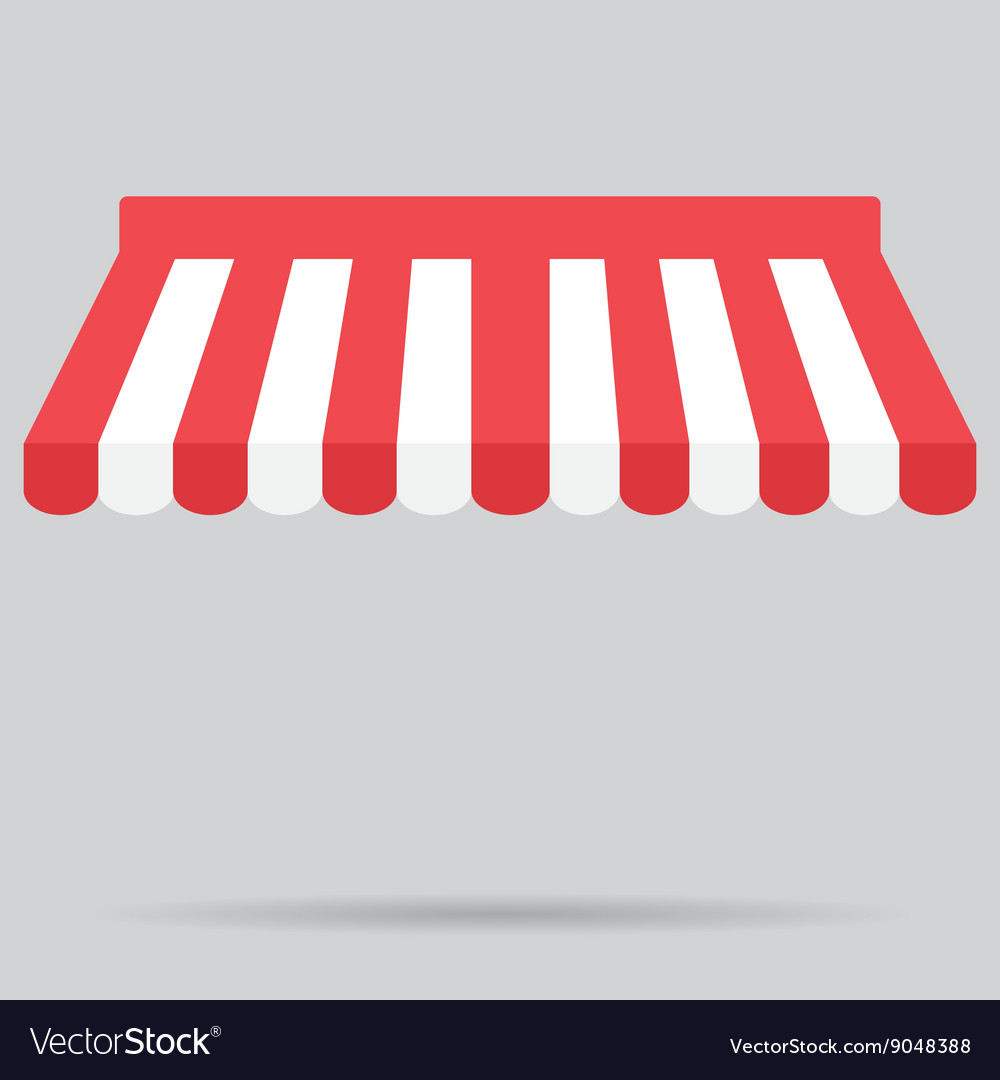 Vector canopy clipart free svg black and white library Canopy awning striped store element design svg black and white library