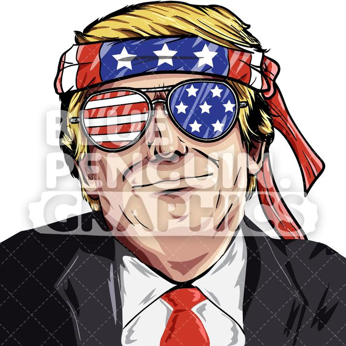 Vector cartoon clipart graphic royalty free Donald Trump USA Vector Cartoon Clipart Illustration graphic royalty free