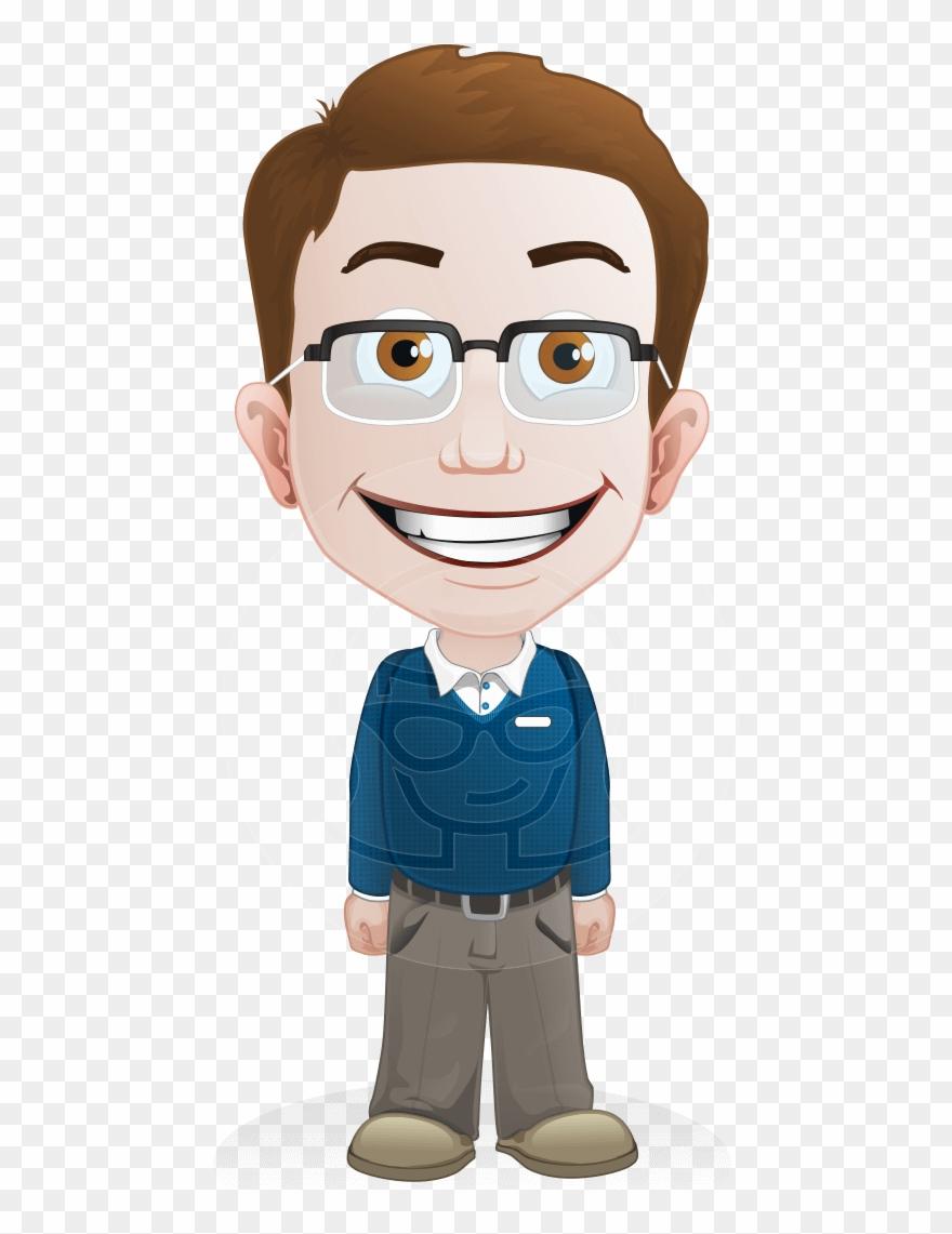 Vector cartoon clipart vector freeuse library Smart Vector Cartoon - Smart Boy Cartoon Png Clipart ... vector freeuse library