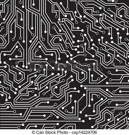 Vector circuit board clipart image library library Vector - circuit board   Clipart Panda - Free Clipart Images image library library