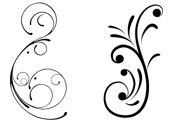 Vector clipart black and white vector black and white library Free swirly floral vector clip art freevectors - Cliparting.com vector black and white library