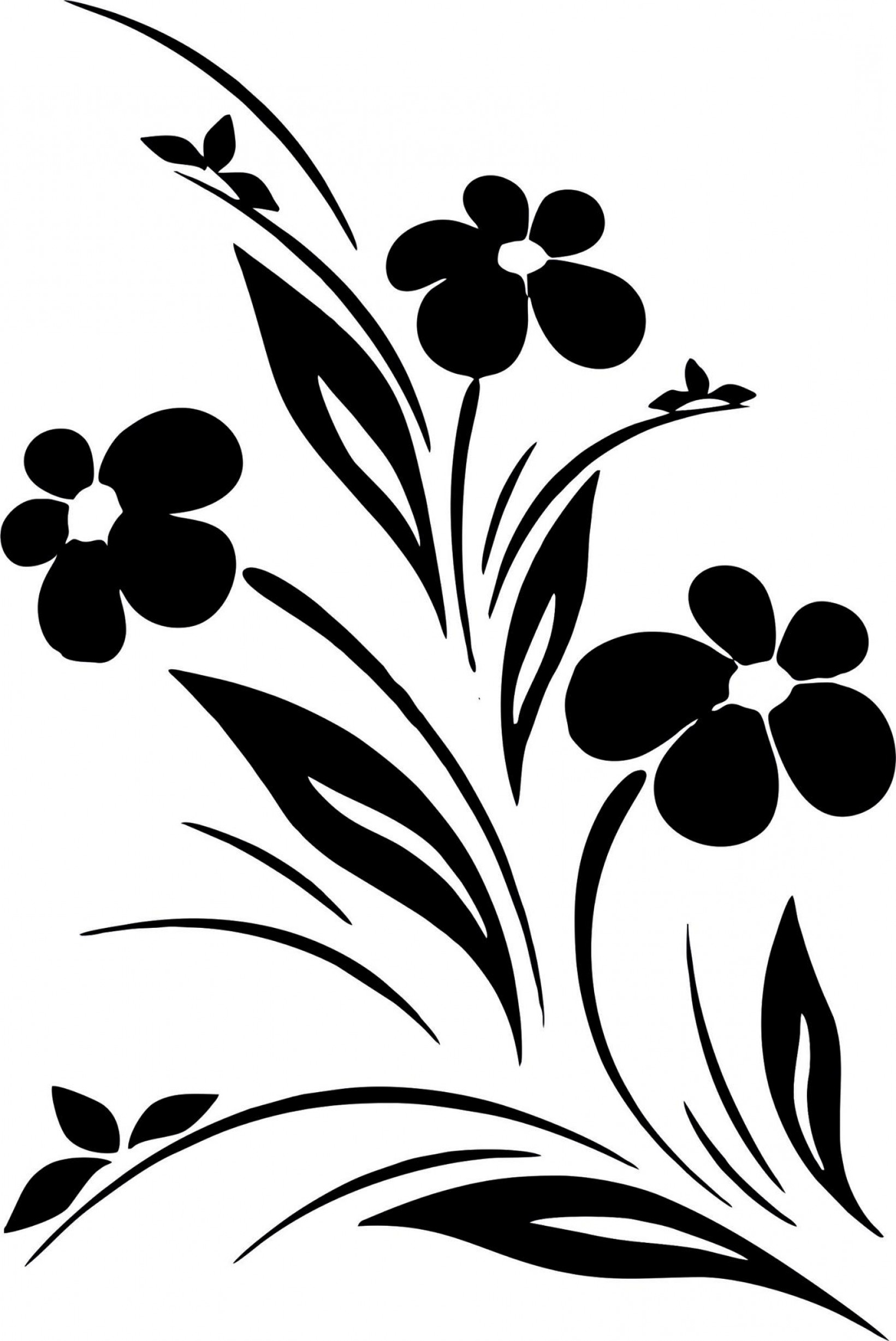 Vector clipart black and white clipart black and white stock Simple Flower Designs Black White Vector Art Jpg | Savoyuptown clipart black and white stock