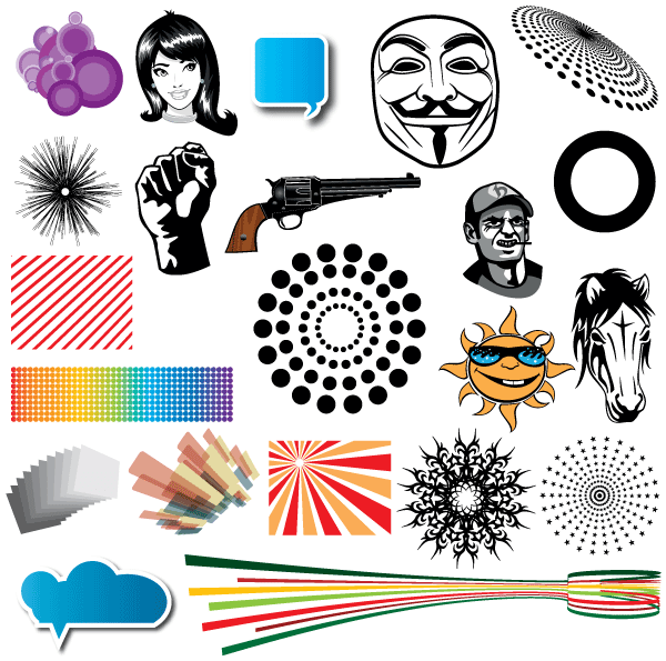 Vector clipart collection free download clipart black and white vector clipart collection | Kjpwg.com clipart black and white