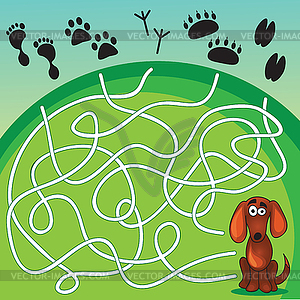 Vector clipart dog for game image royalty free Cute Dog`s Game - vector clipart image royalty free