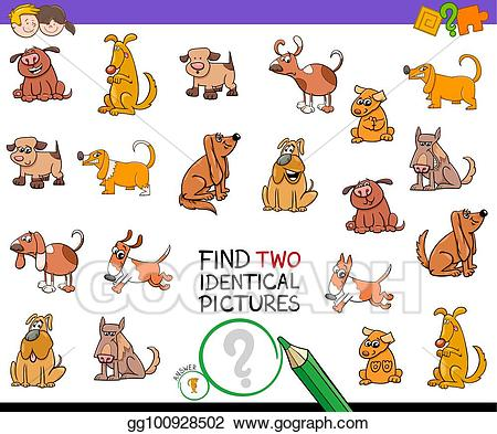 Vector clipart dog for game graphic library Clip Art Vector - Find two identical pictures game with dogs ... graphic library