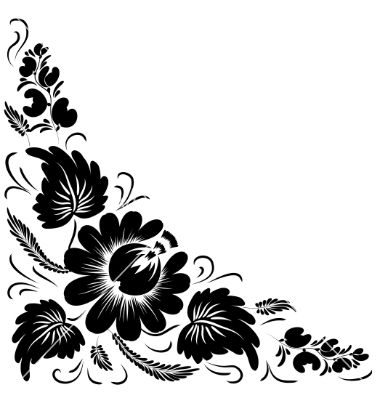 Vector clipart floral png freeuse stock Black flowers vector by julijamilaja - Image #587419 ... png freeuse stock